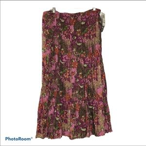 J M collection size 16 w pleated prairie skirt